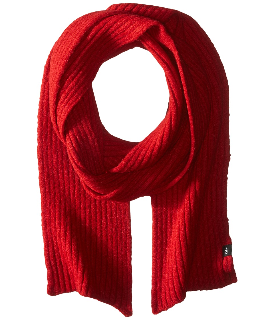 Echo Design - Stretch Fleece Muffler (Painter Red) Scarves