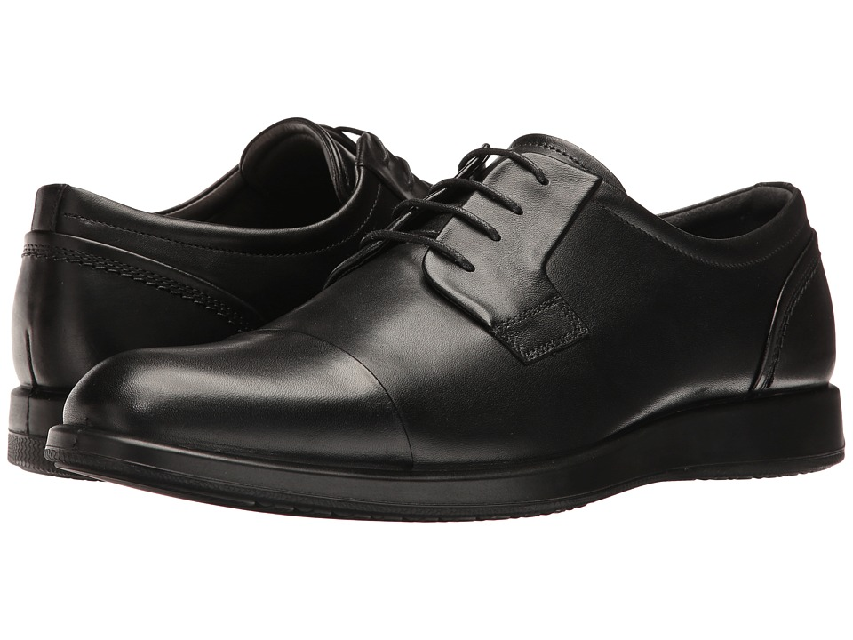 ECCO - Jared Cap Toe Tie (Black) Men's Lace Up Cap Toe Shoes