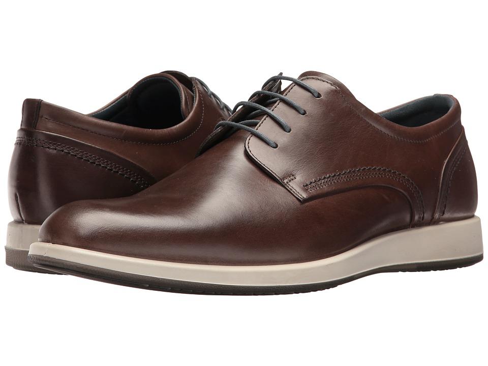 ECCO - Jared Tie (Dark Clay) Men's Shoes