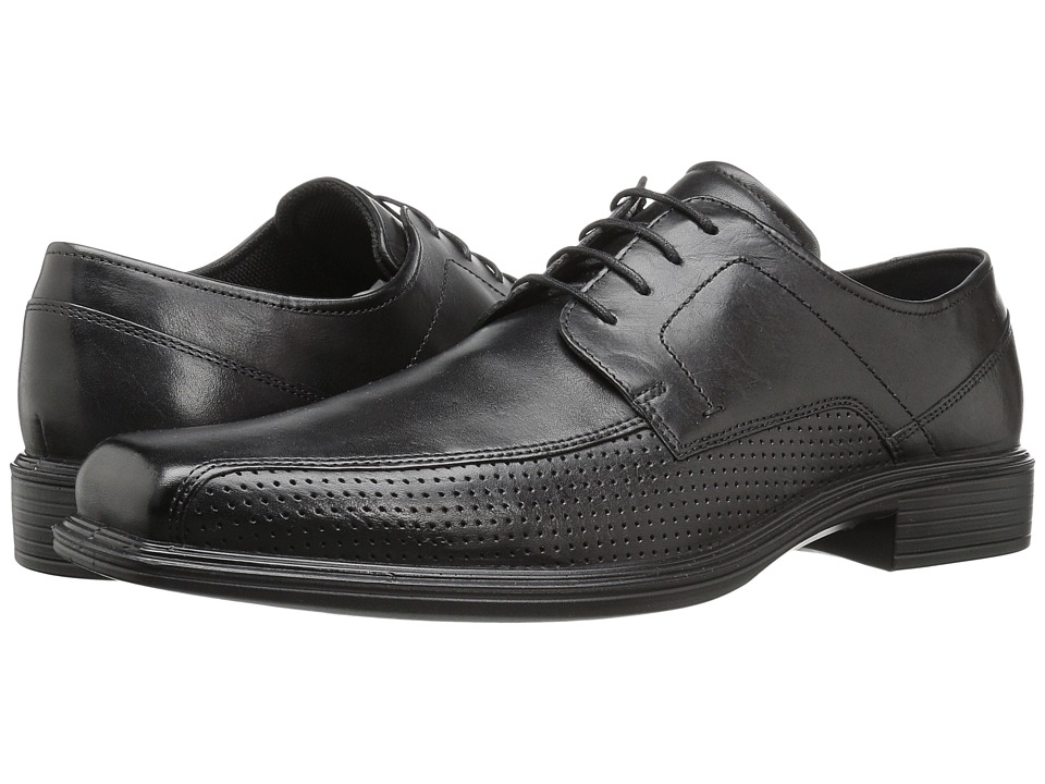 ECCO - Johannesburg Perforated Tie (Black) Men's Lace-up Bicycle Toe Shoes