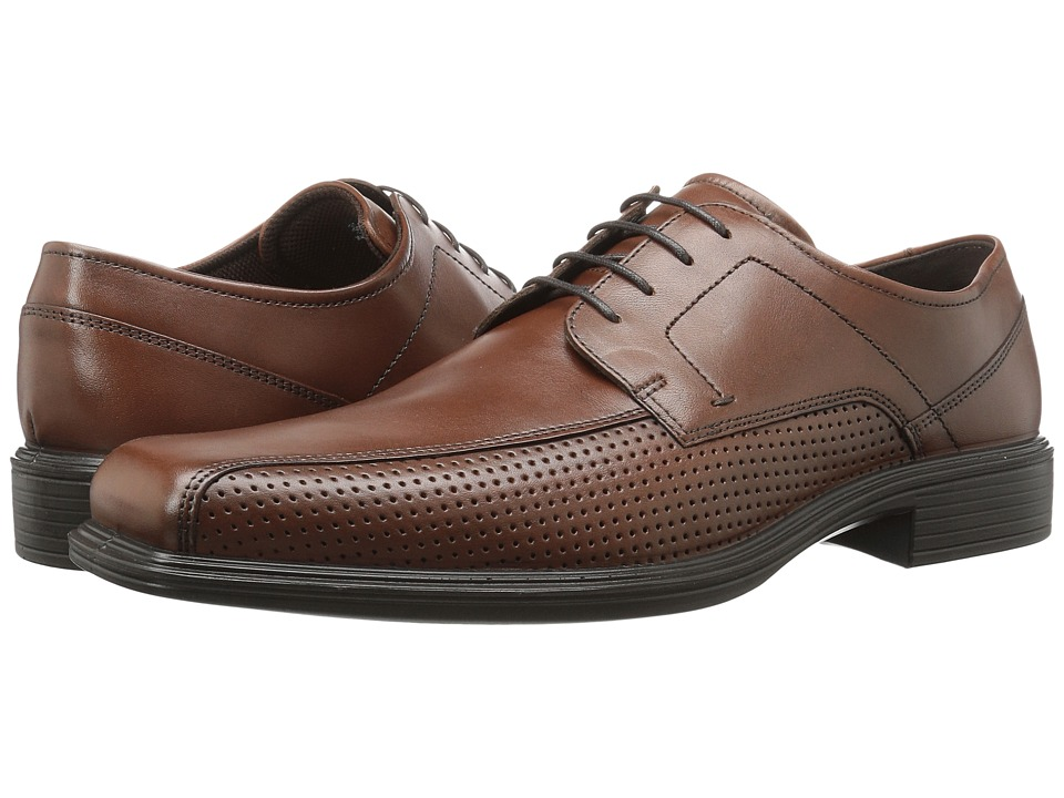 ECCO - Johannesburg Perforated Tie (Mink) Men's Lace-up Bicycle Toe Shoes