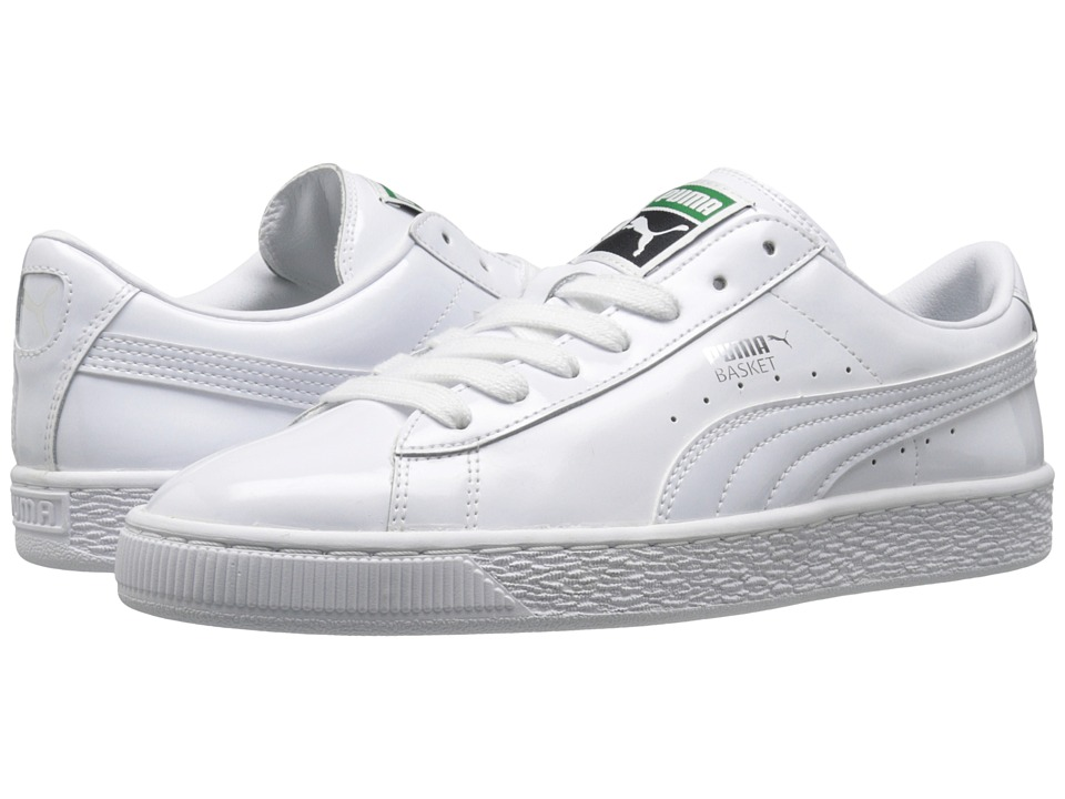 PUMA - Basket Matte Shine (White/White) Women's Basketball Shoes