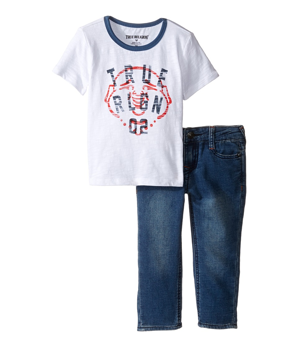 True Religion Kids - True Buddha Set (Infant) (White) Boy's Active Sets