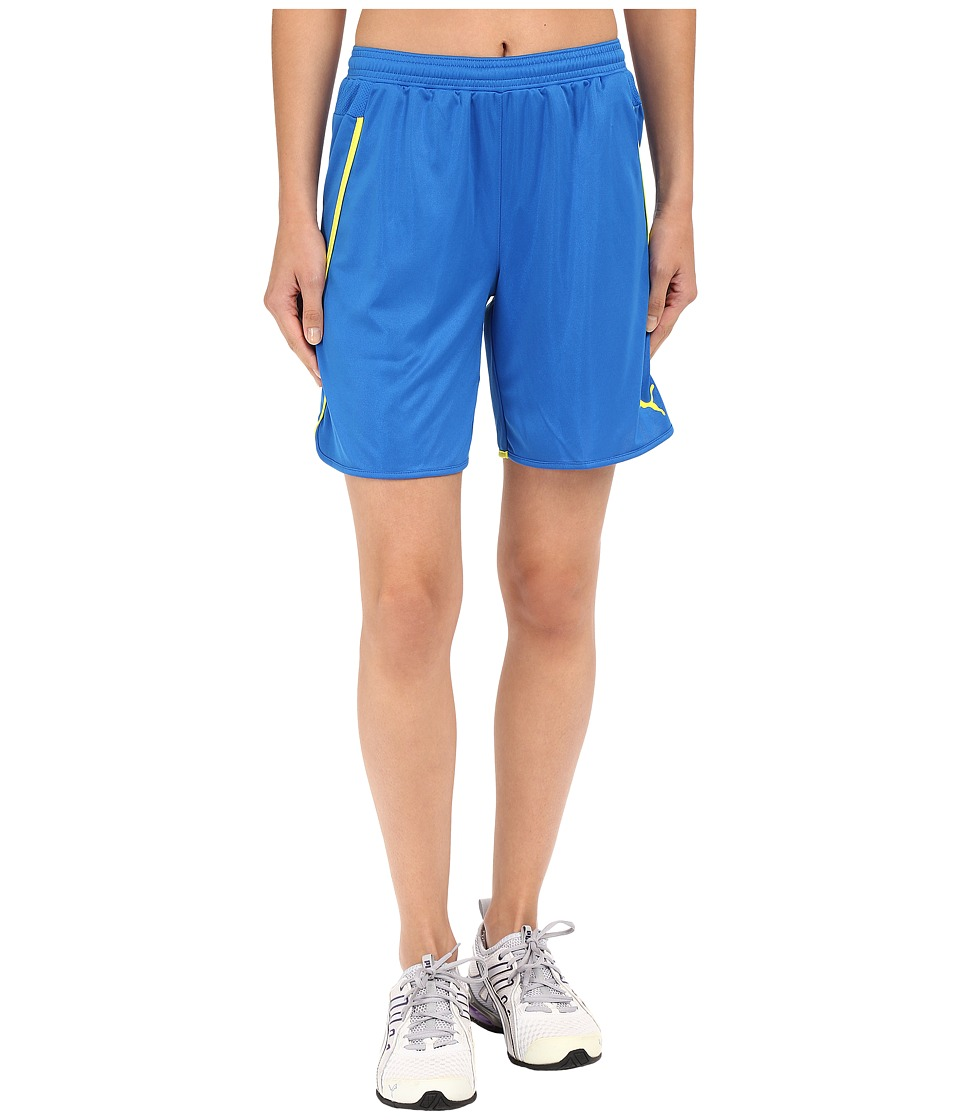 PUMA - Speed Shorts (Puma Royal/Fluro Yellow Japan) Women's Shorts