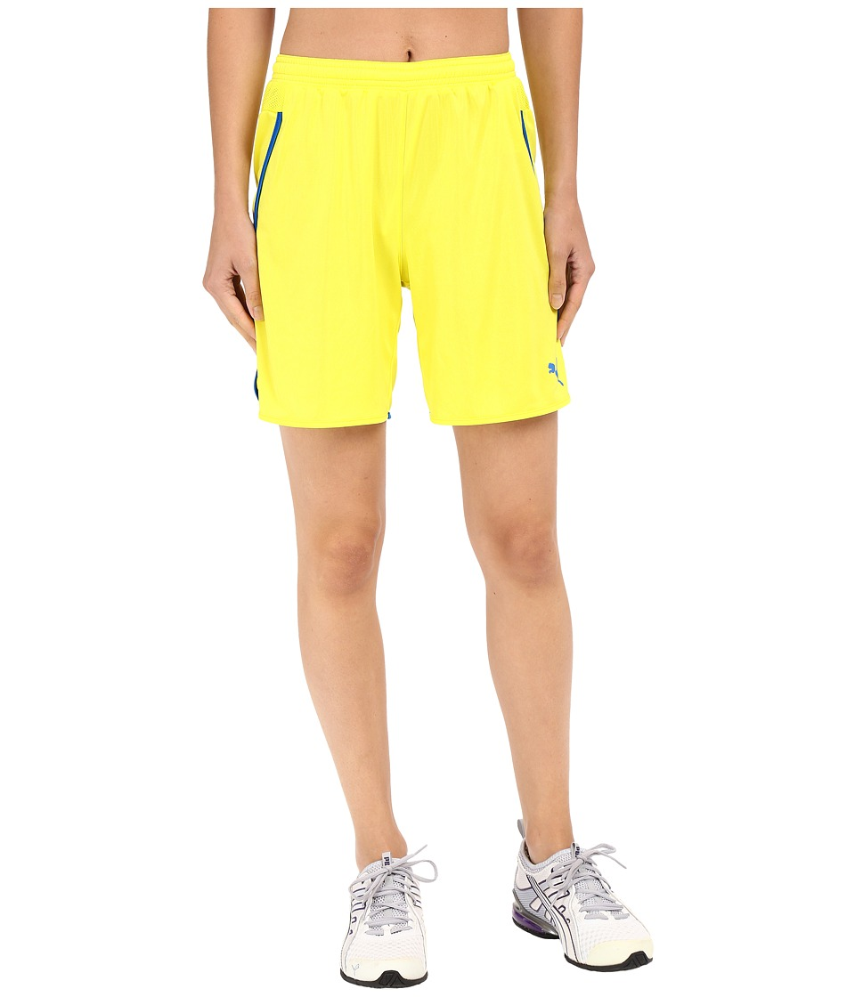 PUMA - Speed Shorts (Fluro Yellow Japan/Royal) Women's Shorts
