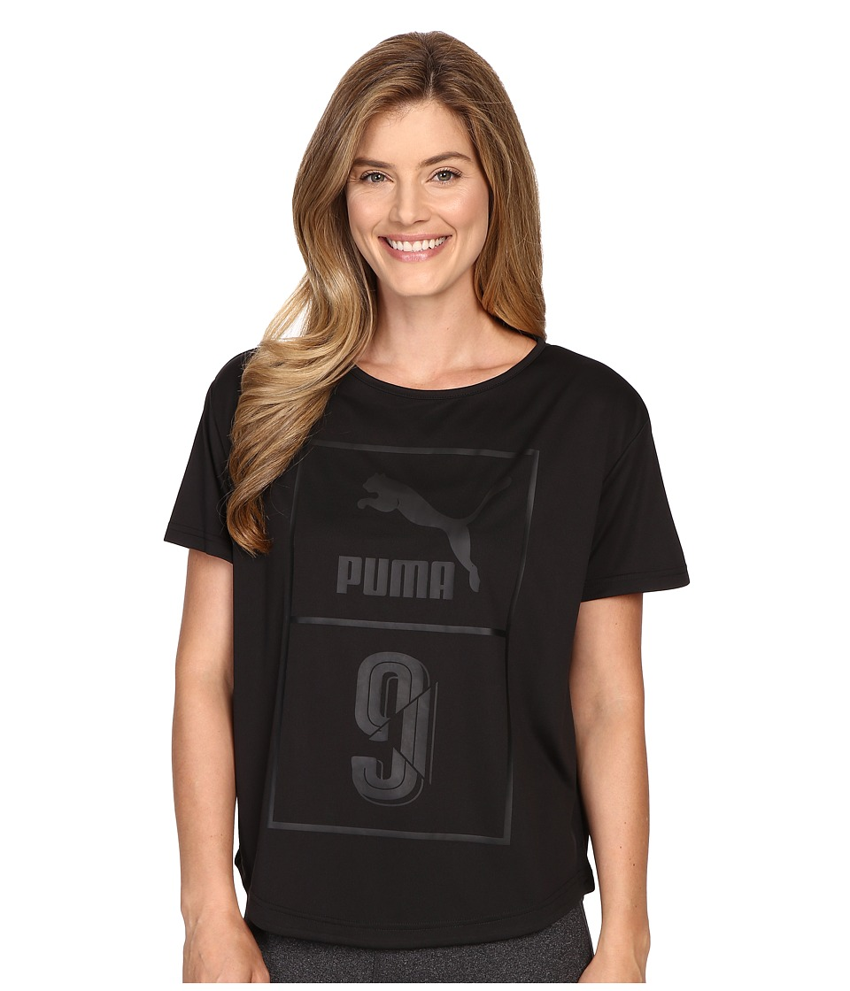 PUMA - Short Sleeve Top (Black) Women's Short Sleeve Pullover