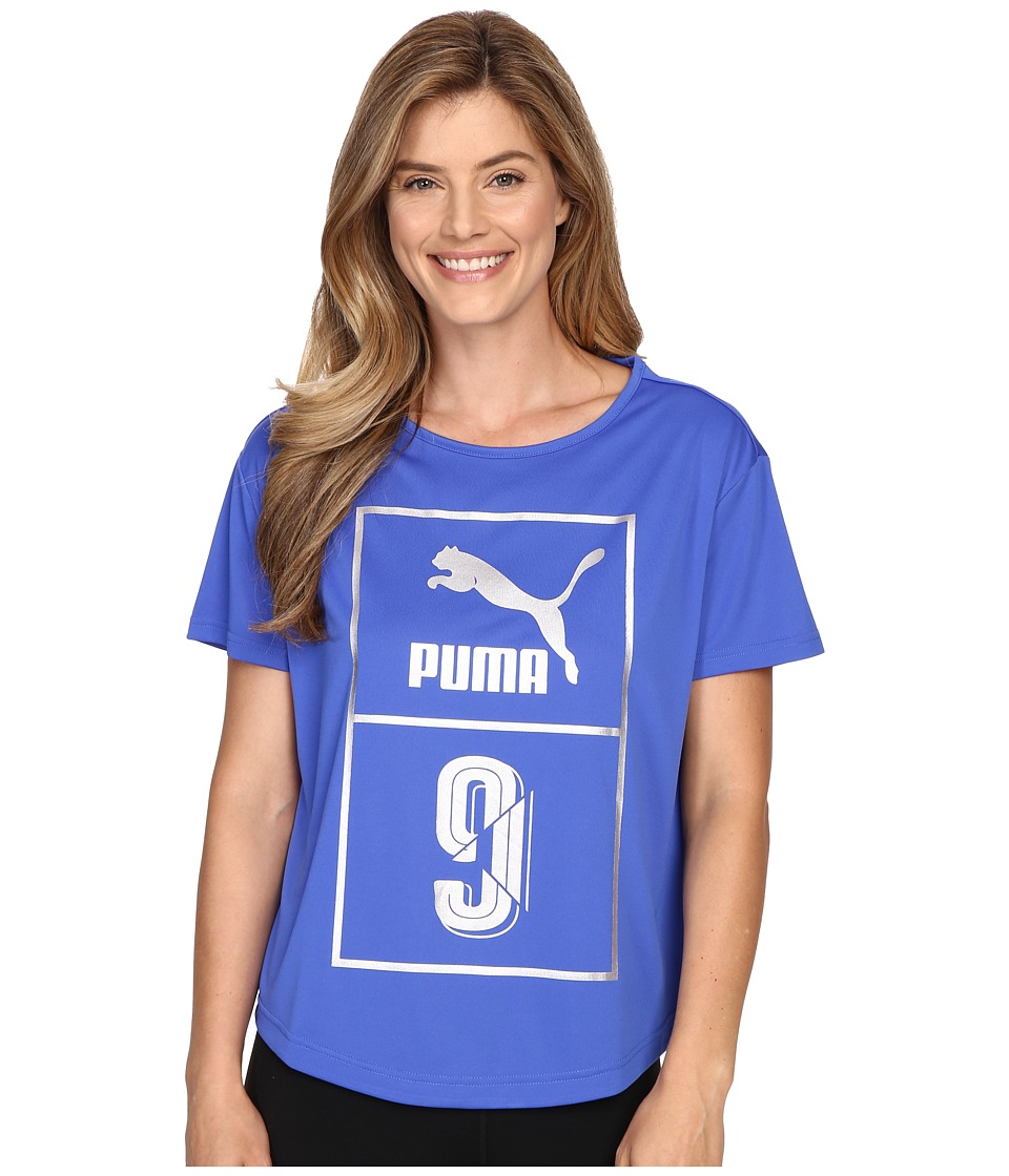 PUMA - Short Sleeve Top (Dazzling Blue) Women's Short Sleeve Pullover