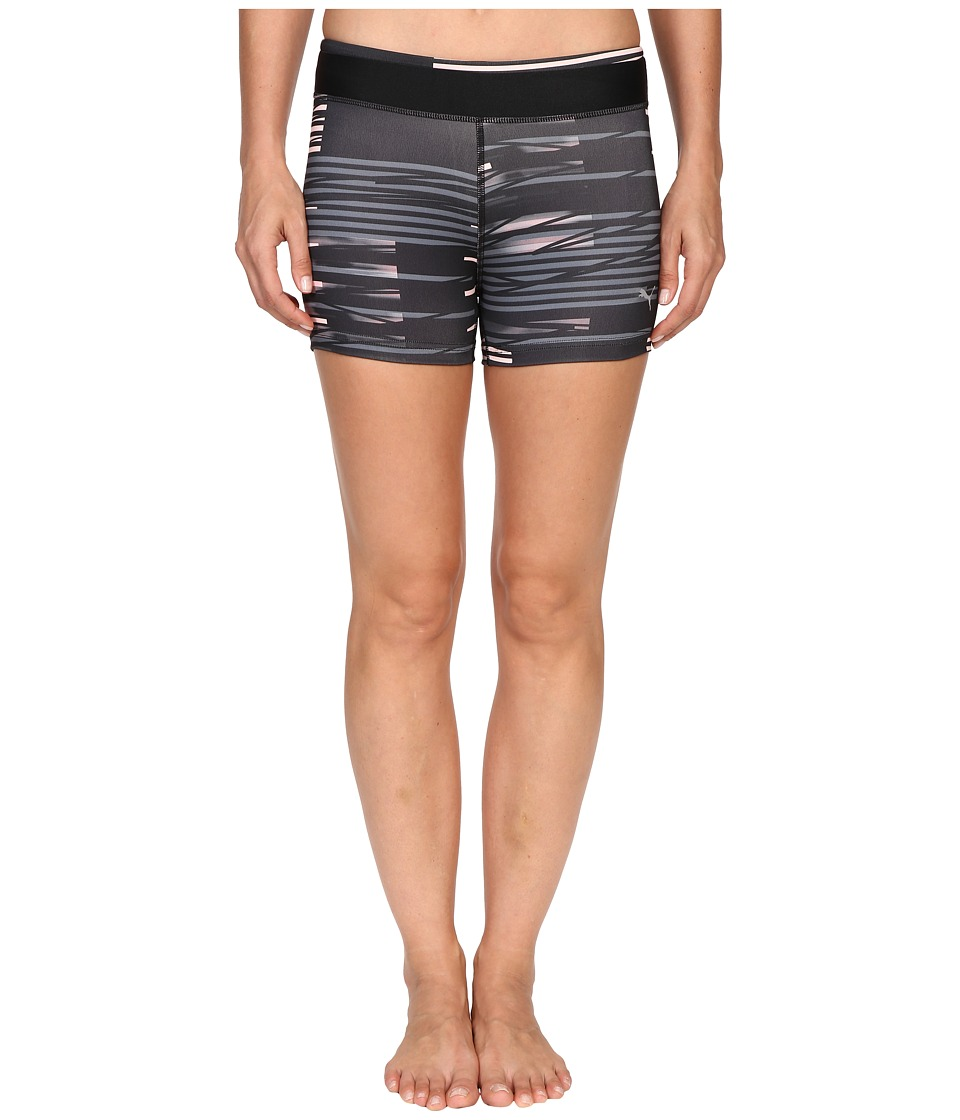 PUMA - All Eyes On Me Short Tights (Black/Turbulence/Crystal Rose) Women's Shorts