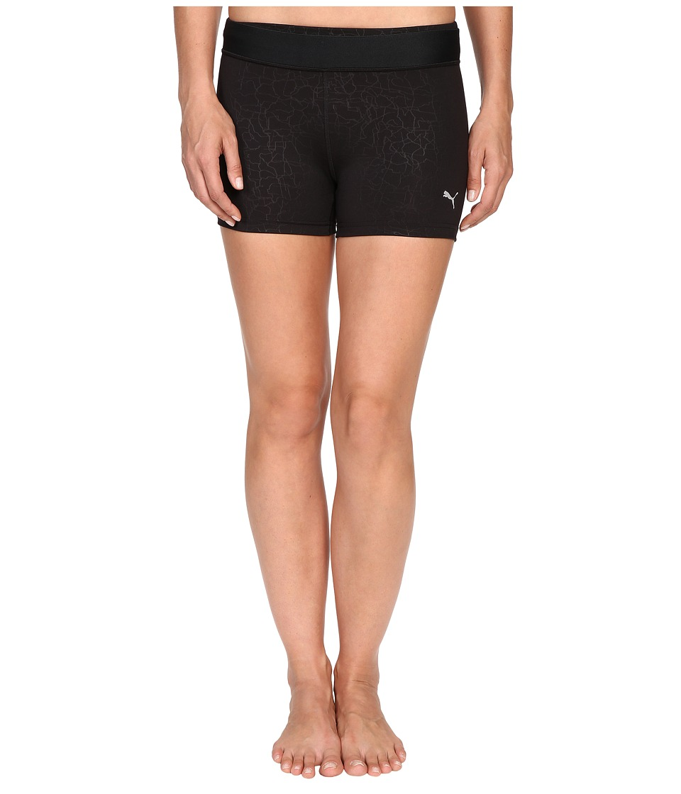 PUMA - All Eyes On Me Short Tights (Black/Embossed) Women's Shorts