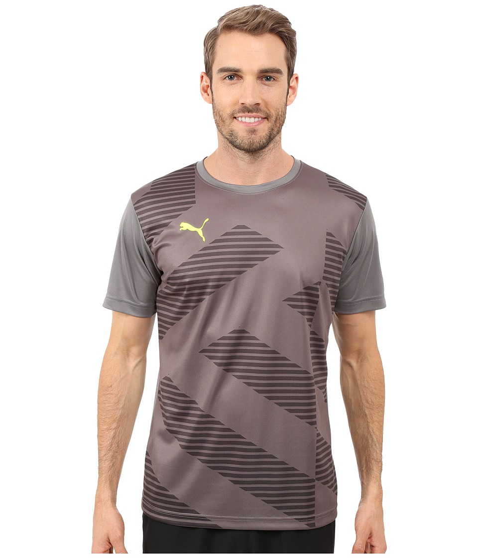 PUMA - Blocker T-Shirt (Smoked Pearl/Asphalt/Smoked Pearl) Men's T Shirt