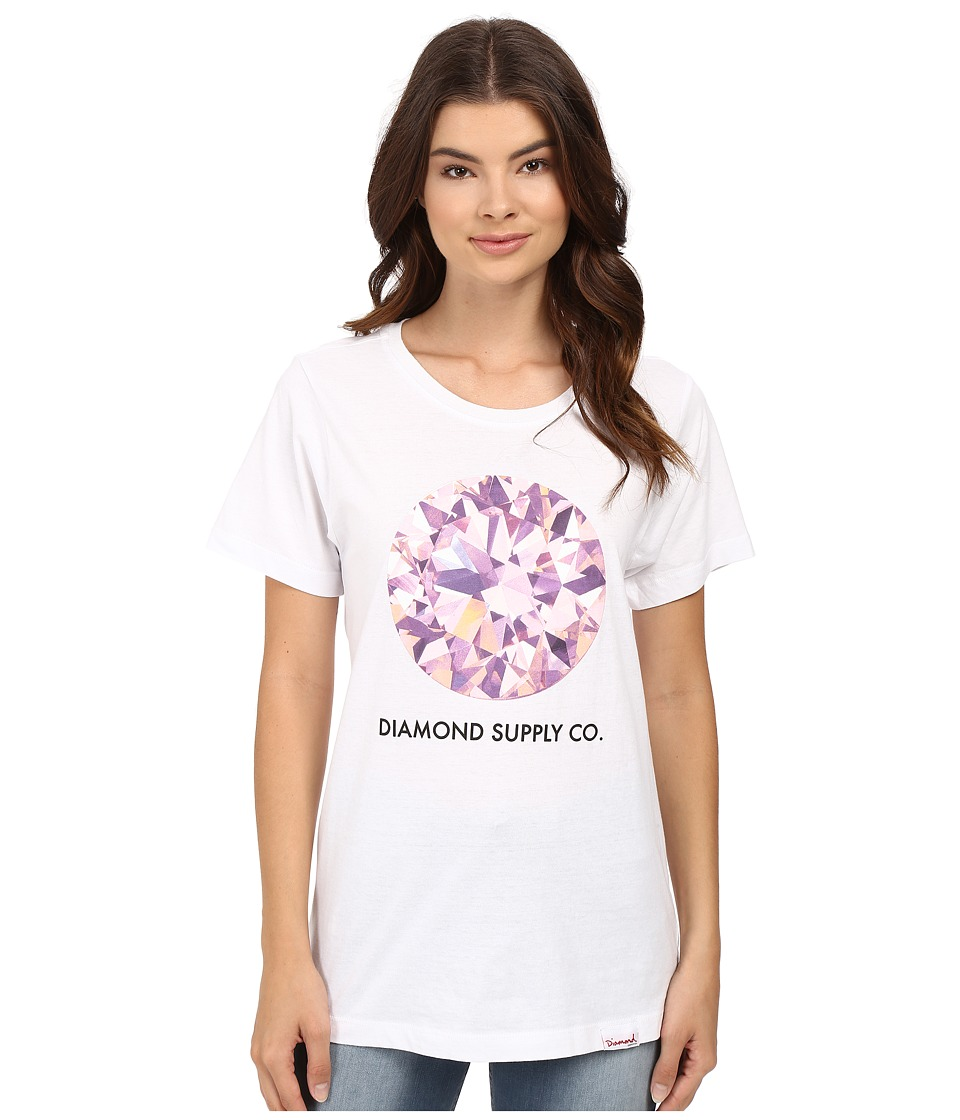 Diamond Supply Co. - Pink Simplicity Boyfriend Tee (White) Women's T Shirt
