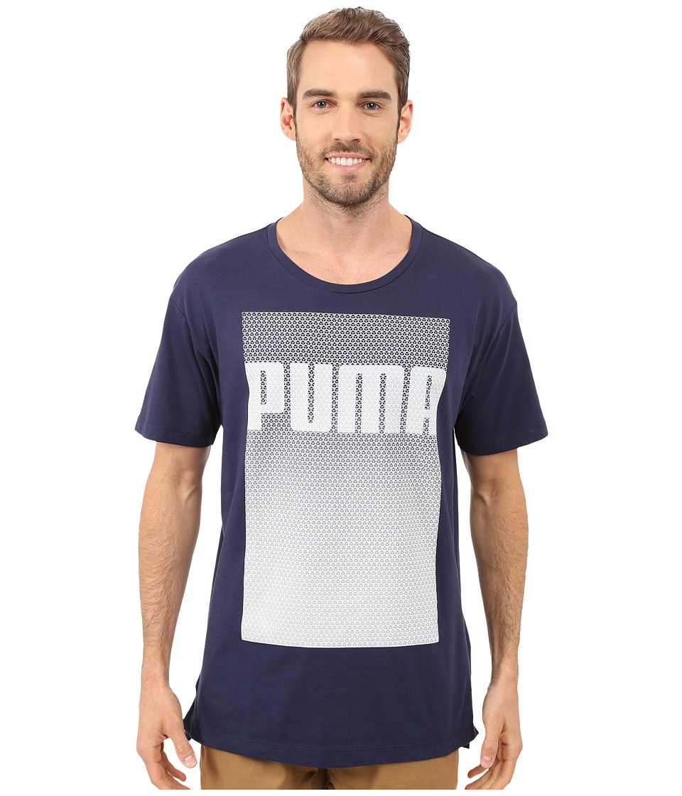 PUMA - Evo Longer Line Logo T-Shirt (Peacoat) Men's T Shirt