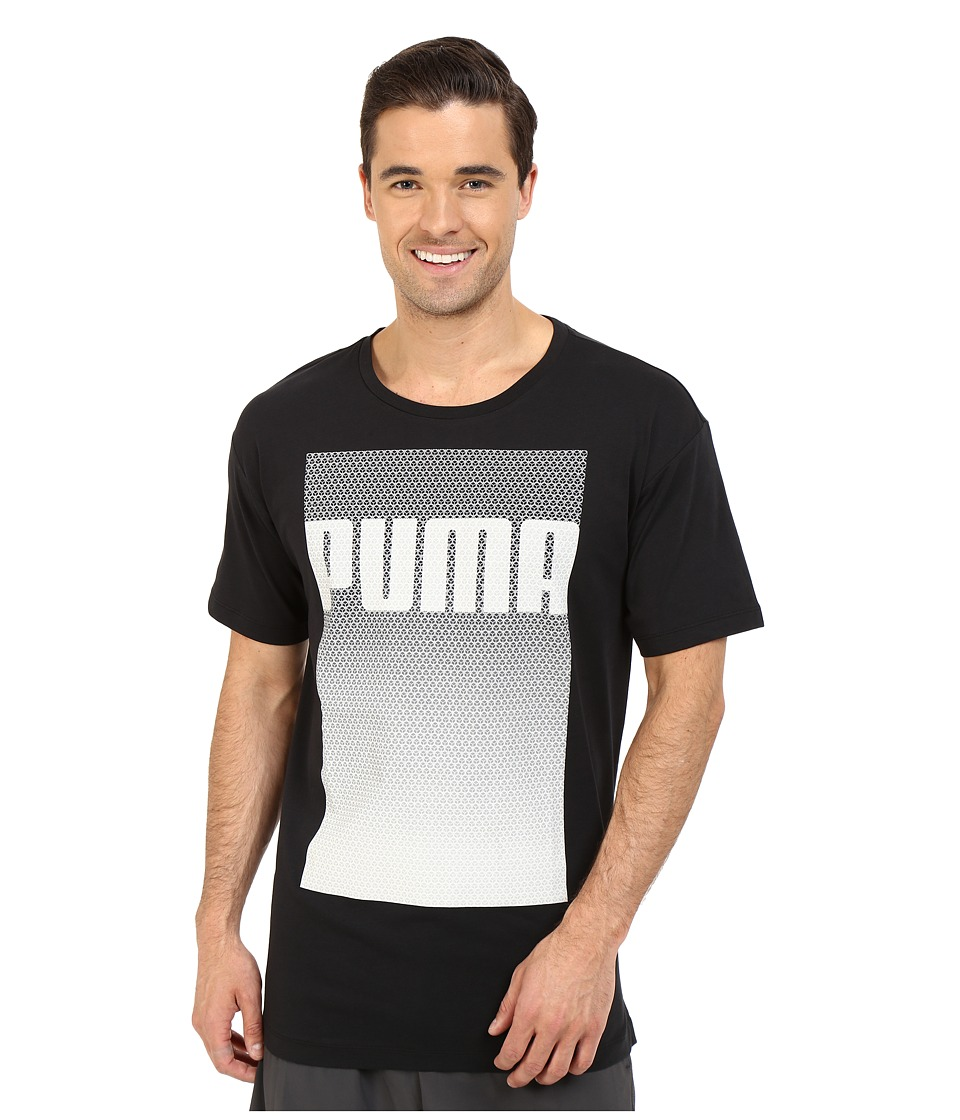 PUMA - Evo Longer Line Logo T-Shirt (Black) Men's T Shirt