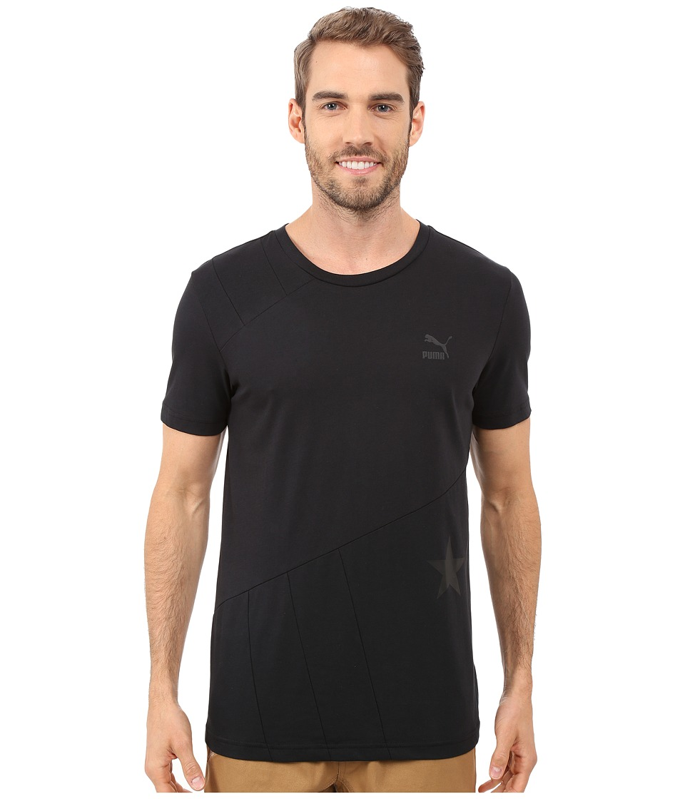 PUMA - Evo Stars Stripes T-Shirt (Black) Men's T Shirt