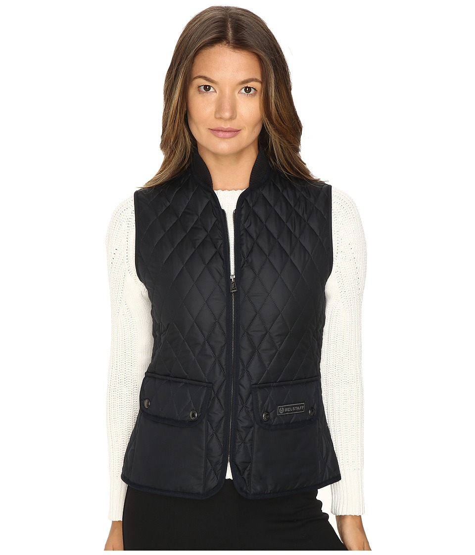 BELSTAFF - Wickford Lightweight Technical Quilt Vest (Dark Navy) Women's Vest