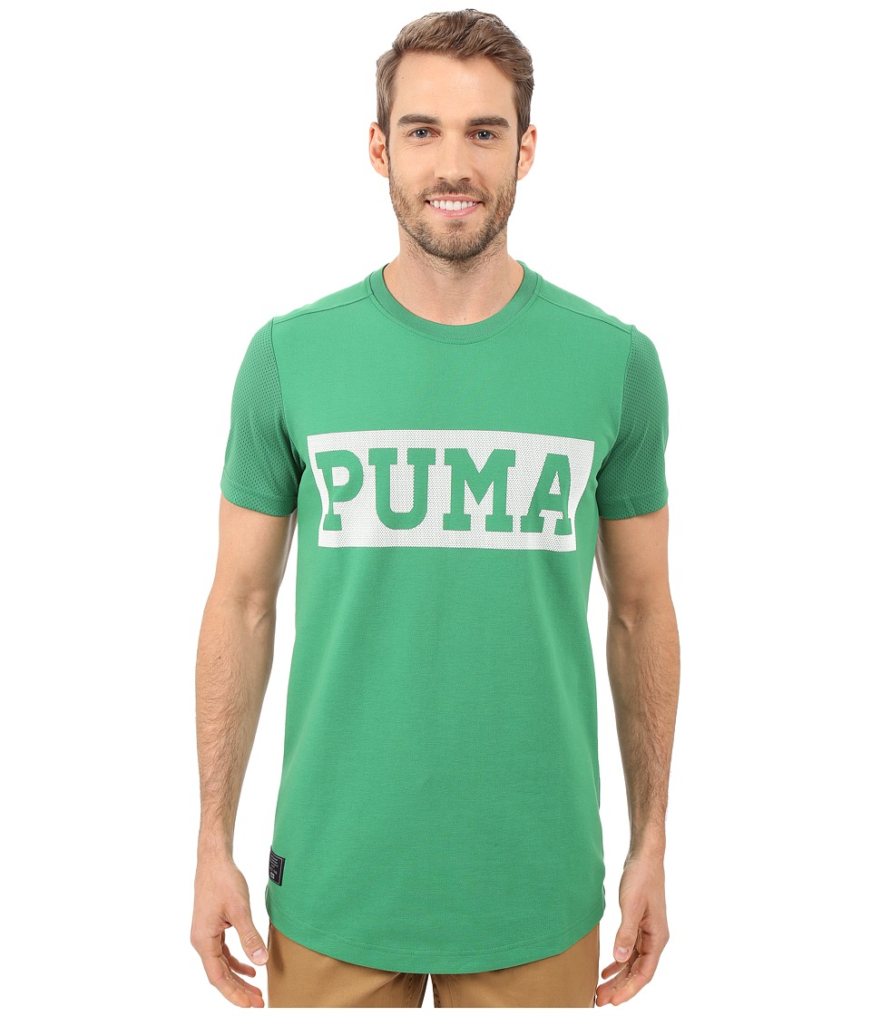 PUMA - Ringer Crew T-Shirt (Amazon/White) Men