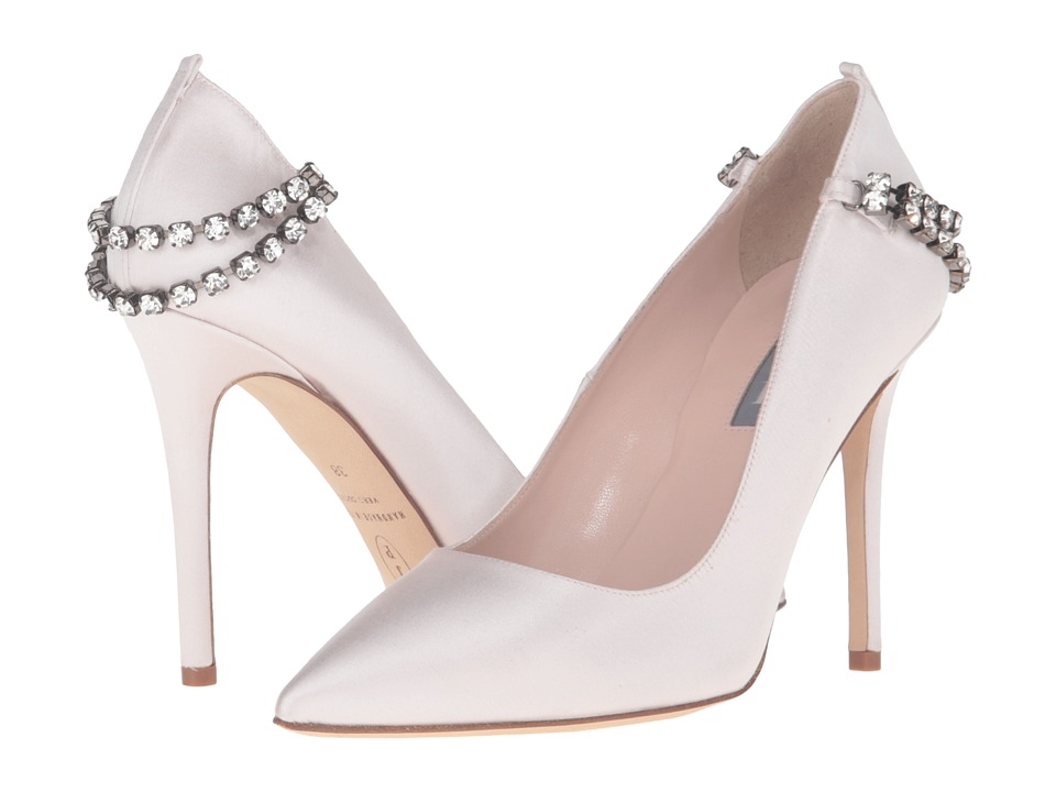 SJP by Sarah Jessica Parker - Penthouse (Moonstone Satin) Women's Shoes