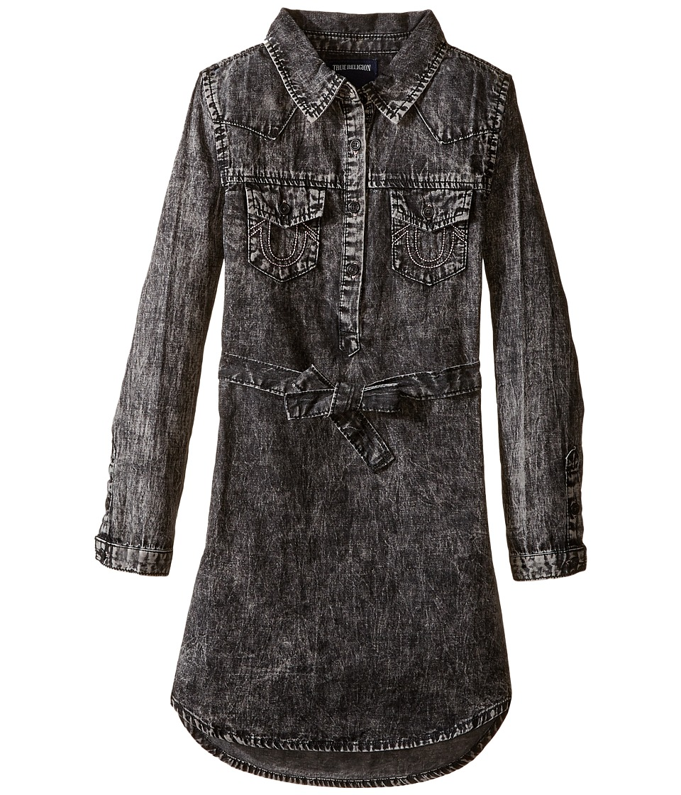 True Religion Kids - Western Shirtdress (Toddler/Little Kids) (Black) Girl's Dress