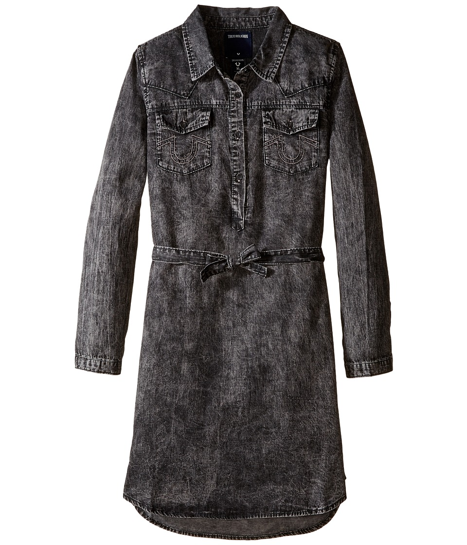 True Religion Kids - Western Shirtdress (Little Kids/Big Kids) (Black) Girl's Dress