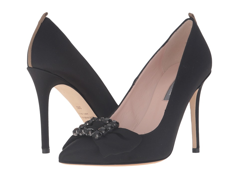 SJP by Sarah Jessica Parker - Witness (Ebony Satin) Women's Shoes