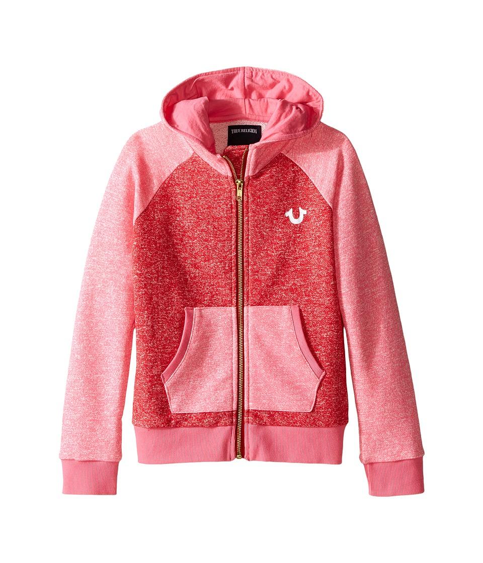 True Religion Kids - Mineral Wash Fleece Hoodie (Toddler/Little Kids) (Mustang) Girl's Sweatshirt