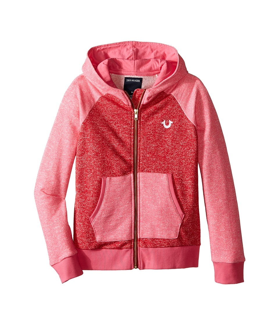 True Religion Kids - Mineral Wash Fleece Hoodie (Little Kids/Big Kids) (Mustang) Girl's Sweatshirt