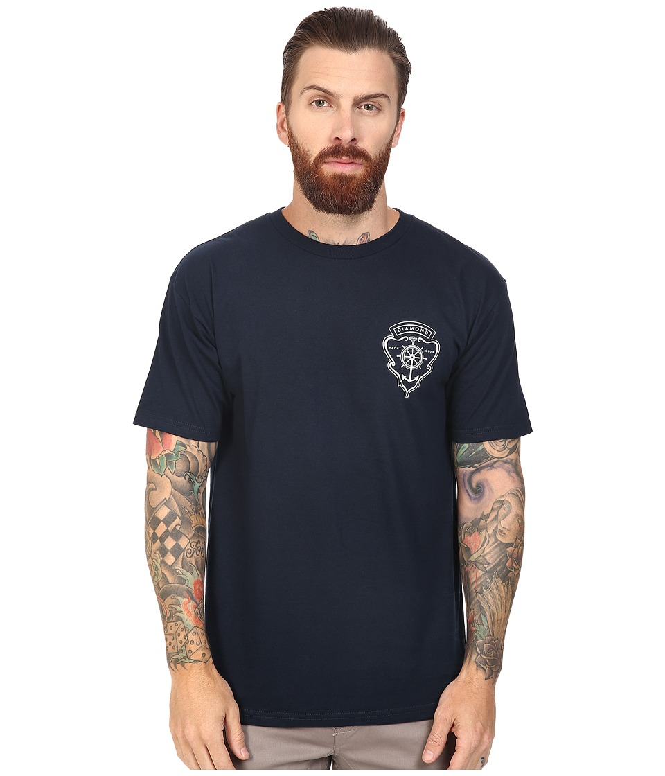 Diamond Supply Co. - Yacht Crest Tee (Navy) Men's T Shirt