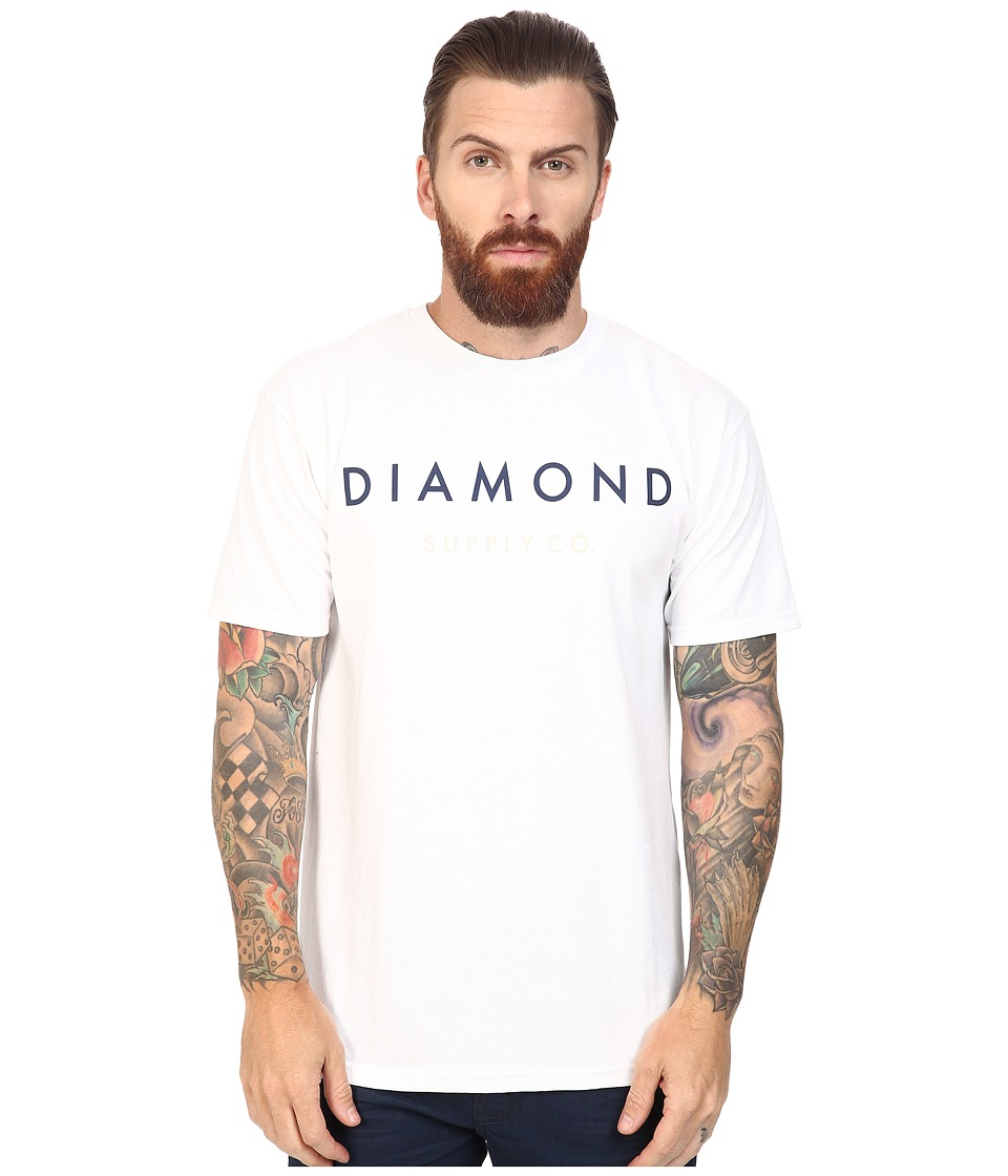 Diamond Supply Co. - Yacht Flag Tee (White) Men's T Shirt