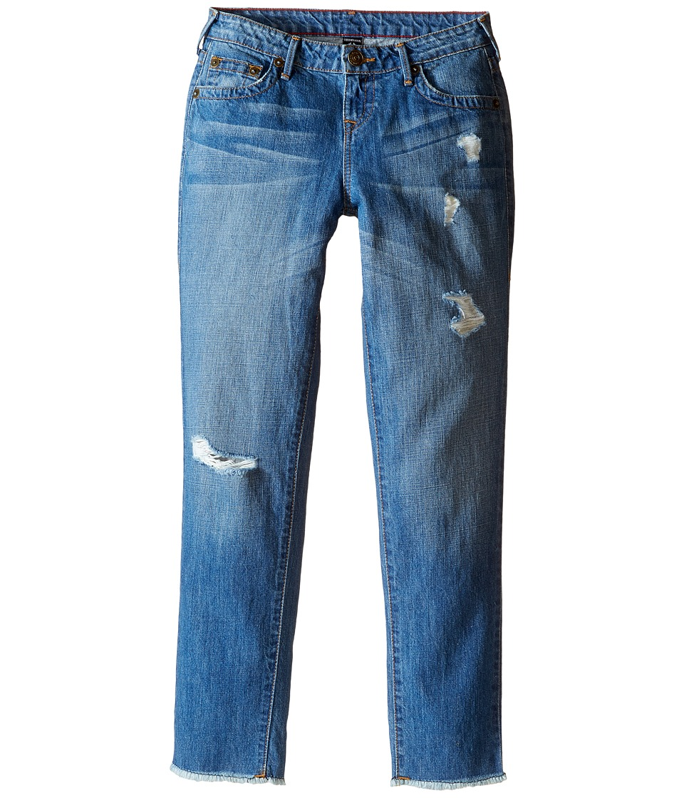 True Religion Kids - Audrey Destructed Boyfriend Jeans in Breeze Blue (Big Kids) (Breeze Blue) Girl's Jeans