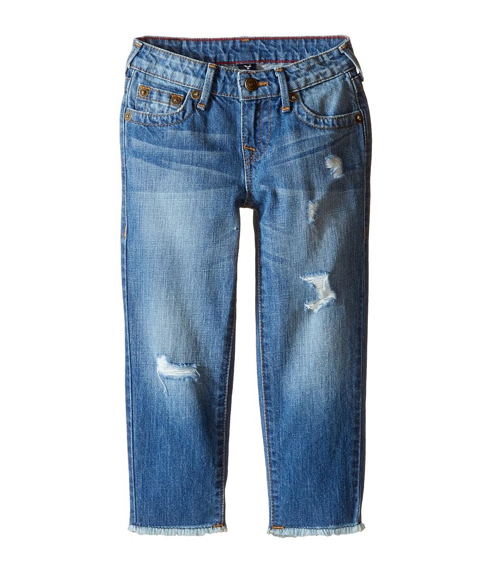 True Religion Kids Audrey Destructed Boyfriend Jeans in Breeze Blue (Toddler/Little Kids) (Breeze Blue) Girl