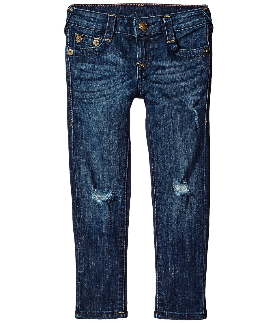 True Religion Kids - Casey Midnight Gold Lurex Single End Jeans in Biker Blue (Big Kids) (Biker Blue) Girl's Jeans