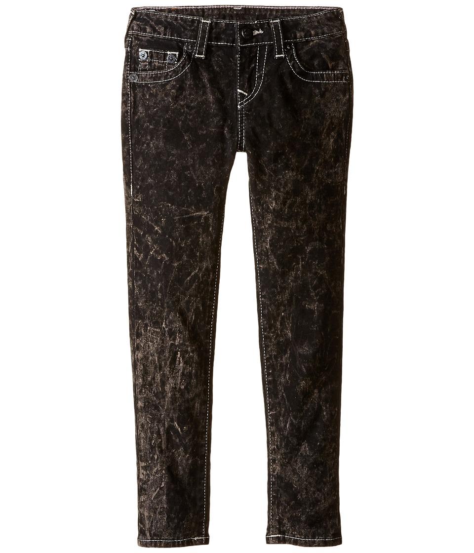 True Religion Kids Casey Light Gray Single End Jeans in Blackout/Mineral Wash (Toddler/Little Kids) (Blackout/Mineral Wash) Girl