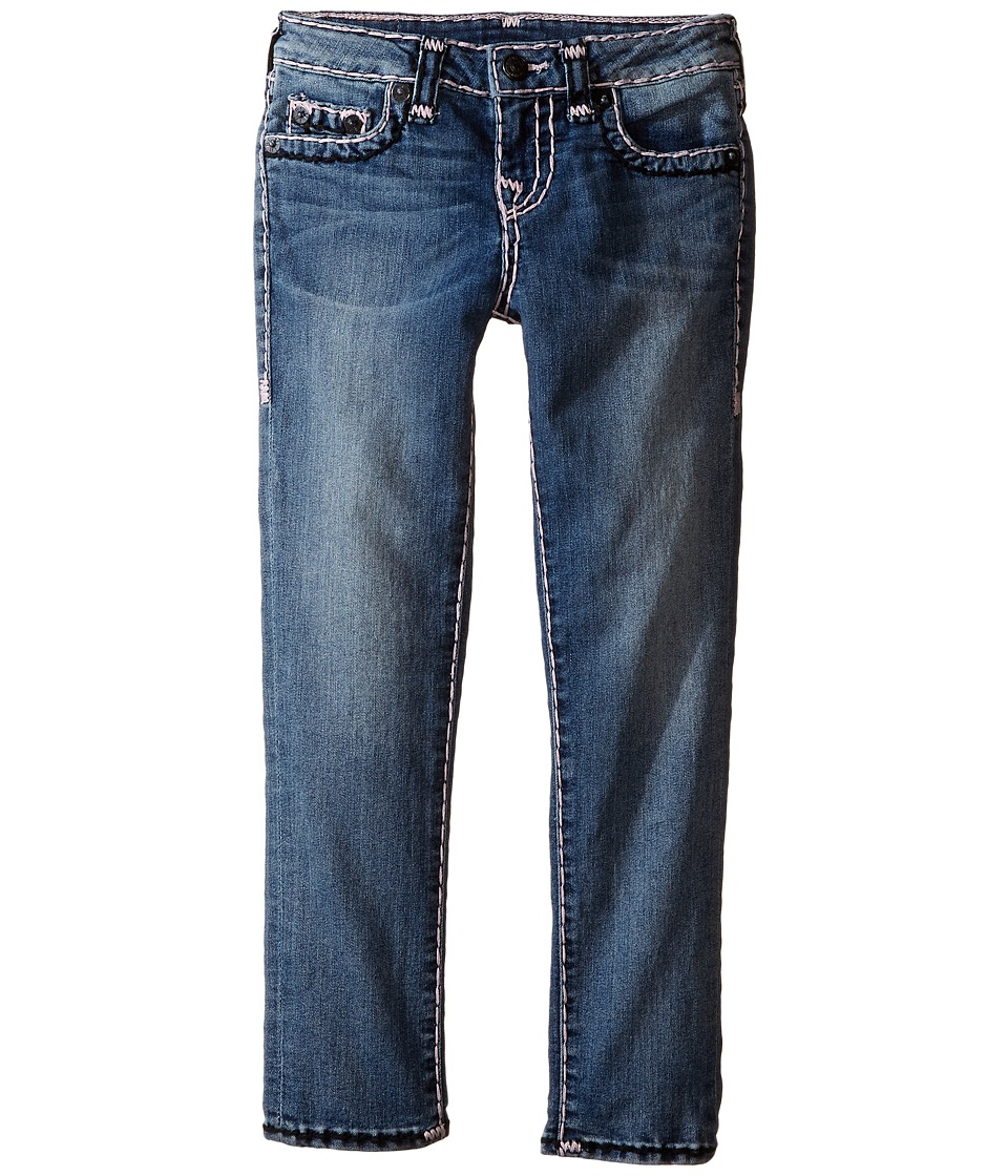 True Religion Kids - Casey Color Combo Super T Jeans in Diamond Wash (Toddler/Little Kids) (Diamond Wash) Girl's Jeans