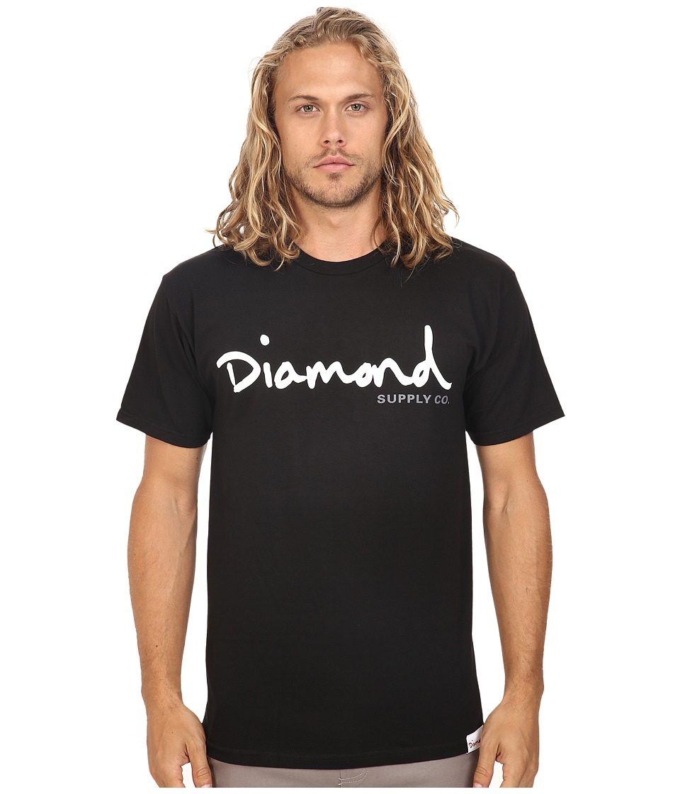 Diamond Supply Co. - OG Script Tee (Black) Men's T Shirt