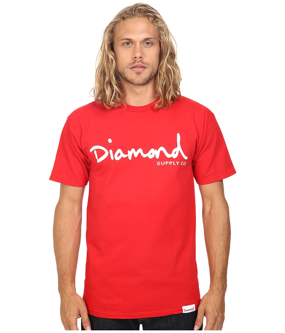 Diamond Supply Co. - OG Script Tee (Red) Men's T Shirt