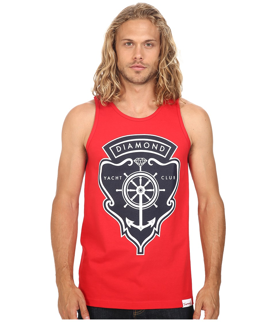 Diamond Supply Co. - Yacht Crest Tank Top (Red) Men's Sleeveless