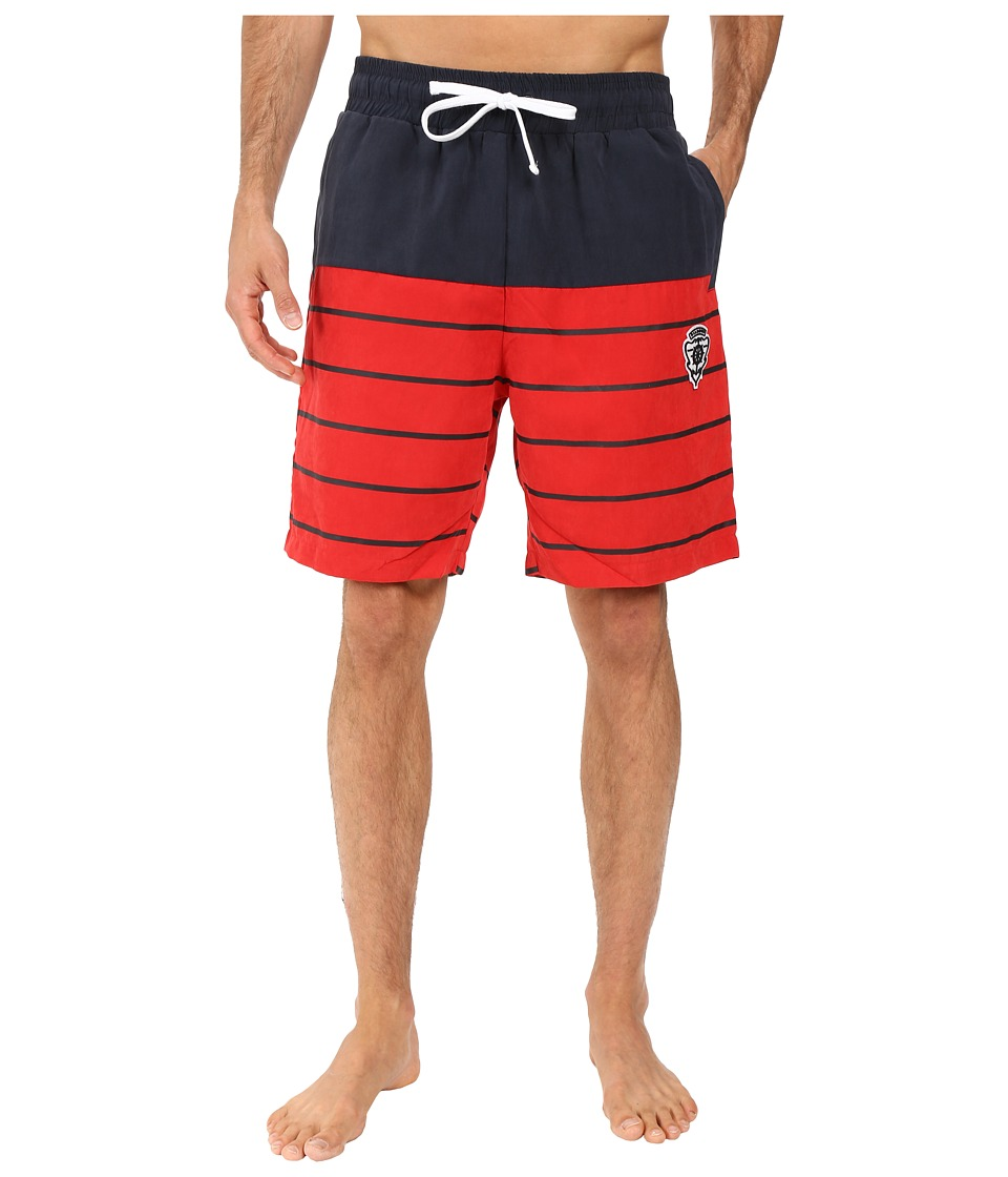 Diamond Supply Co. - Hamilton Color Block Trunks (Navy/Red) Men's Swimwear