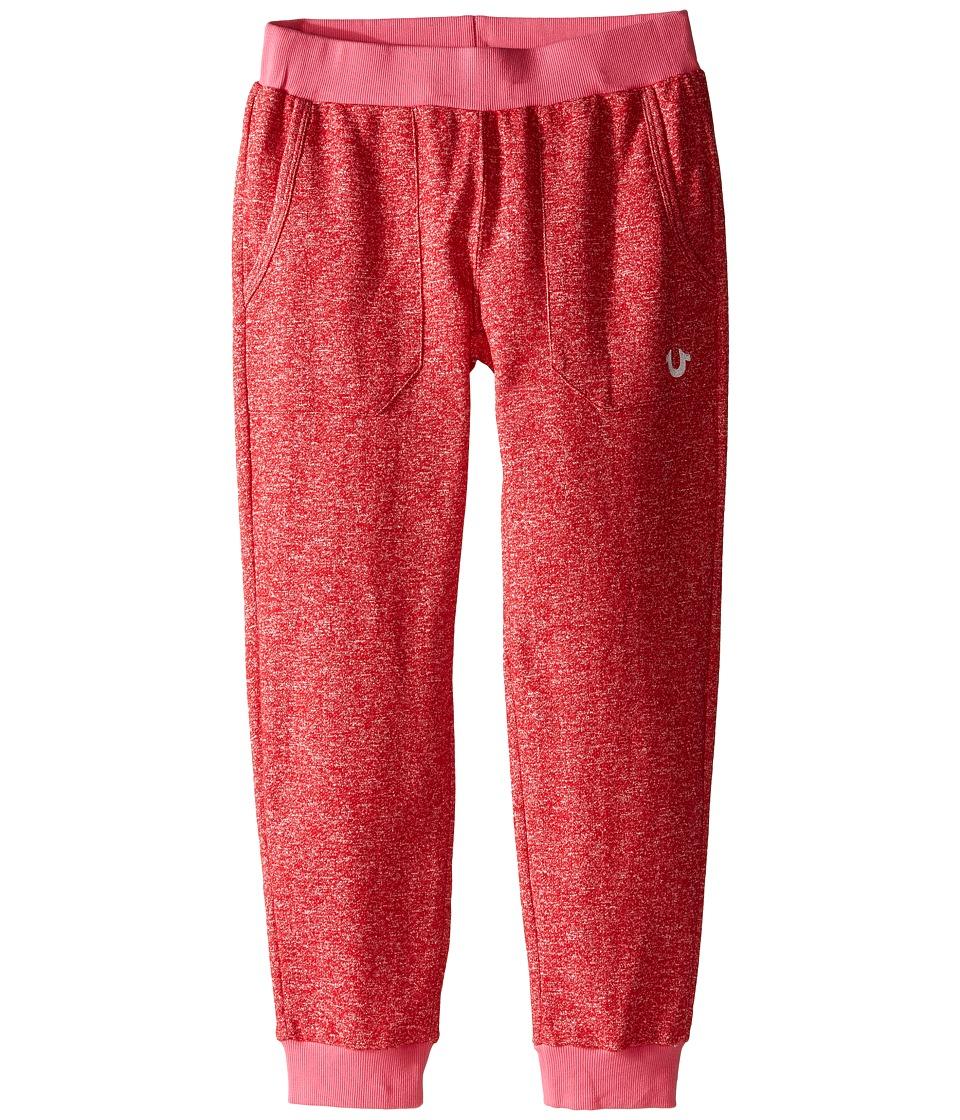 True Religion Kids - Mineral Wash Fleece Crop Pants (Little Kids/Big Kids) (Mustang) Girl's Casual Pants
