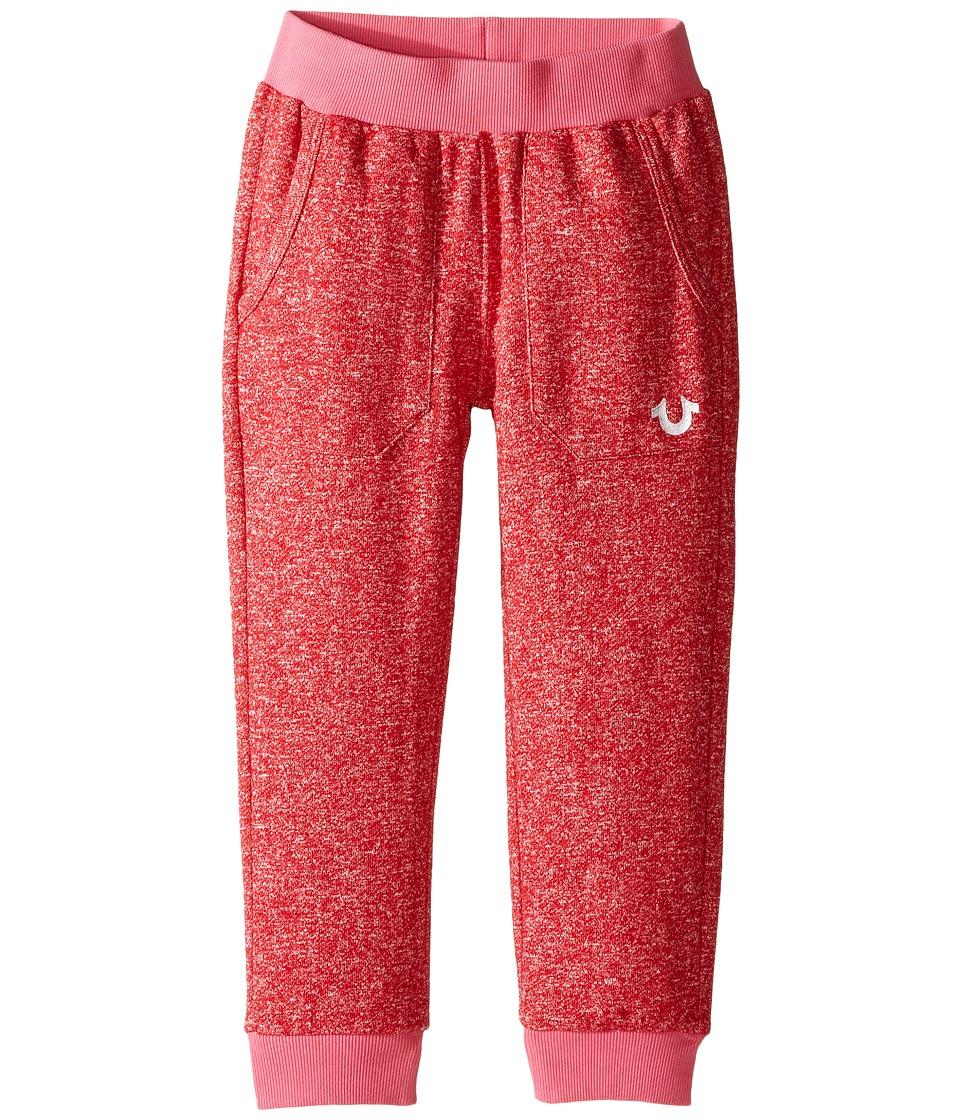 True Religion Kids - Mineral Wash Fleece Crop Pants (Toddler/Little Kids) (Mustang) Girl's Casual Pants
