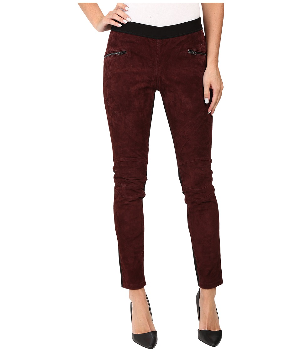 Blank NYC Suede Pull-On Skinny in Serial Vapist (Burgundy) Women