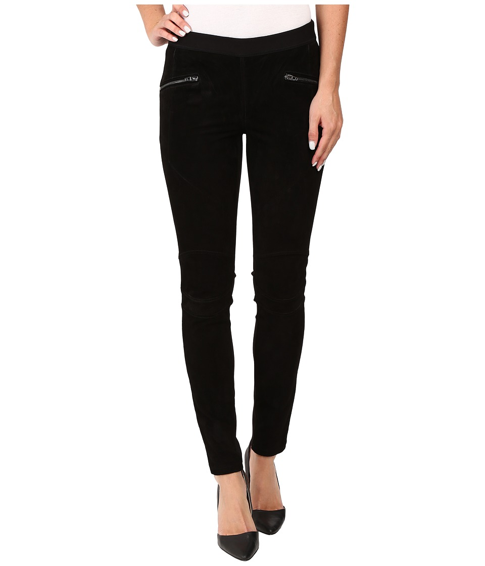 Blank NYC Suede Pull-On Skinny in Shadows (Black) Women