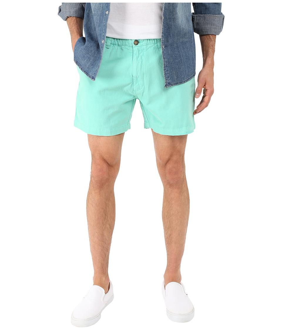 Vintage 1946 Snappers Vintage Washed Elastic Waistband Shorts (Aqua) Men