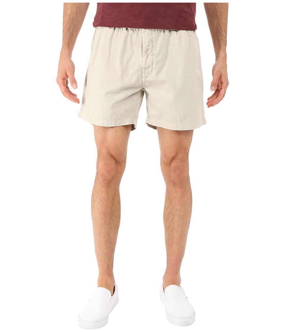 Vintage 1946 Snappers Vintage Washed Elastic Waistband Shorts (Stone) Men