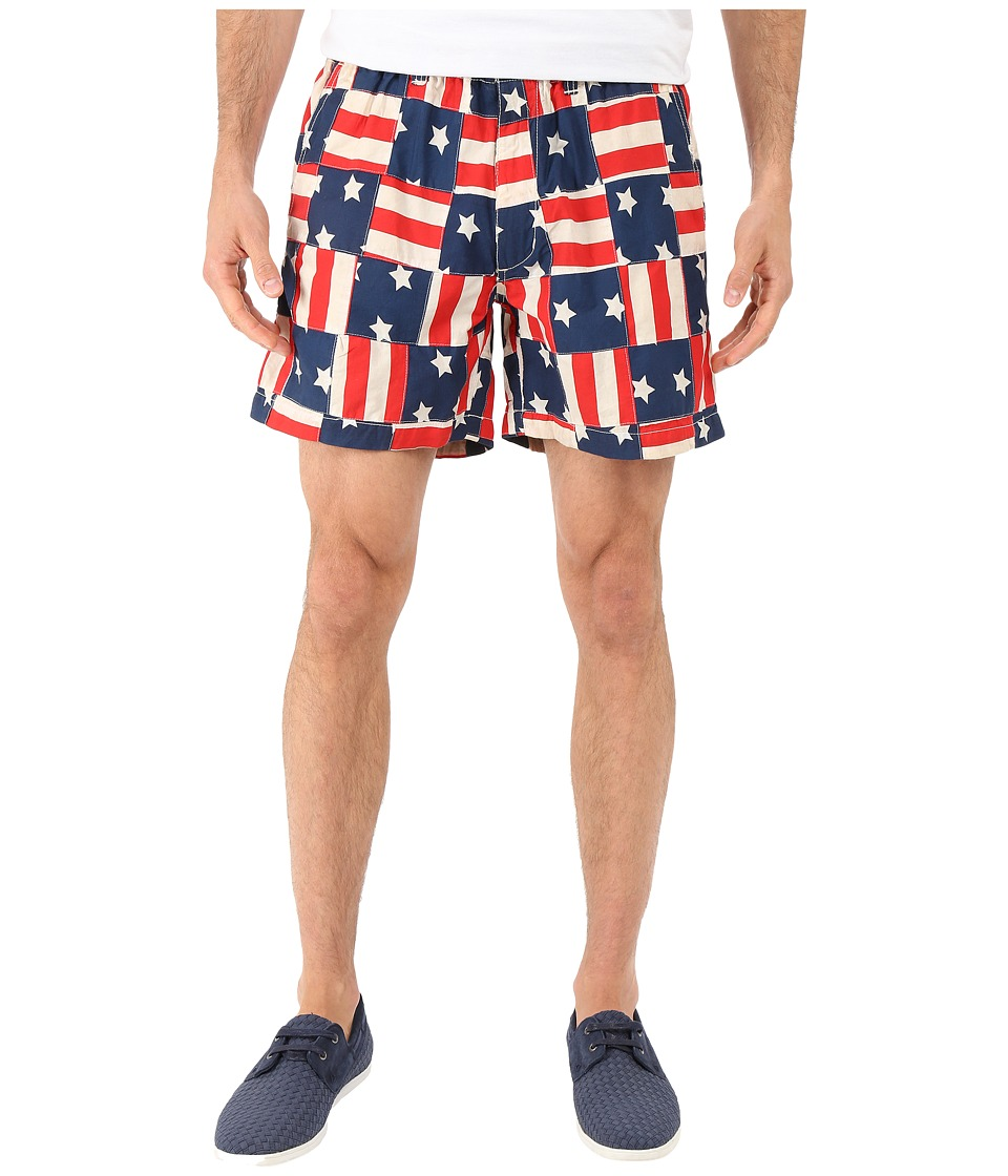Vintage 1946 - Americana Patch Pull-On Shorts (Navy) Men's Shorts