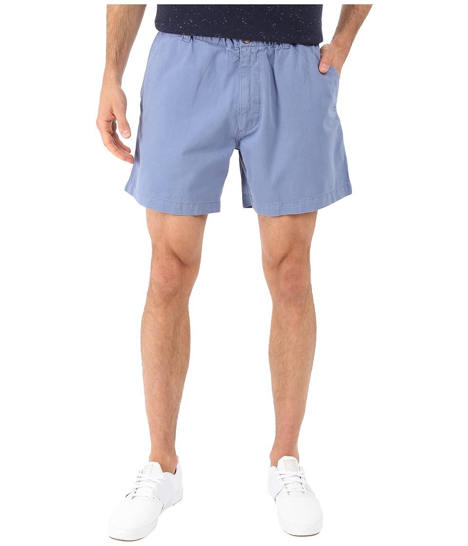 Vintage 1946 Snappers Vintage Washed Elastic Waistband Shorts (Blueberry) Men