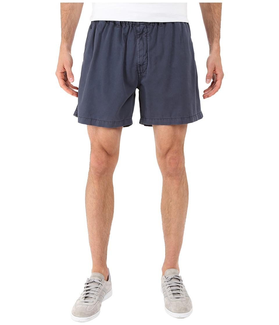 Vintage 1946 Snappers Vintage Washed Elastic Waistband Shorts (Navy) Men