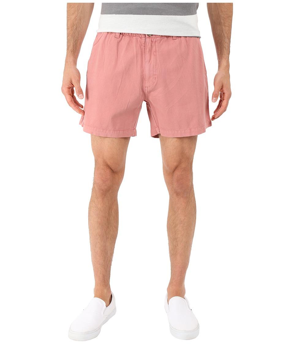 Vintage 1946 Snappers Vintage Washed Elastic Waistband Shorts (Charleston Brick) Men
