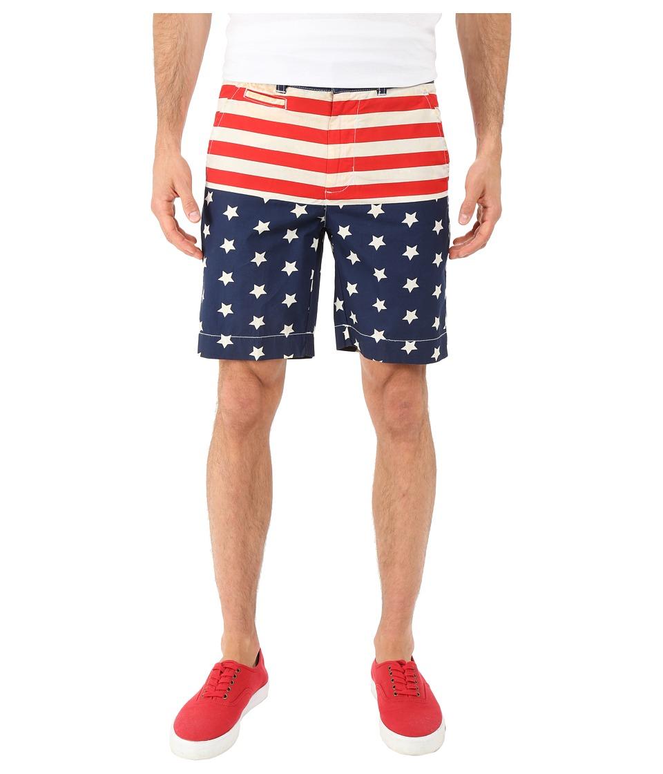 Vintage 1946 - Americana Flat Front Shorts (Navy) Men's Shorts
