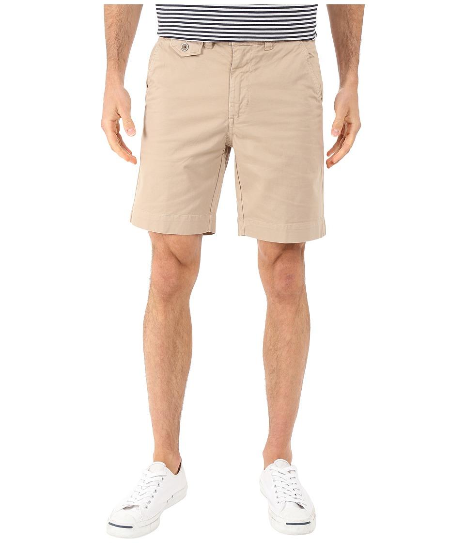 Vintage 1946 - Stretch Twill Flat Front Shorts (Khaki) Men's Shorts