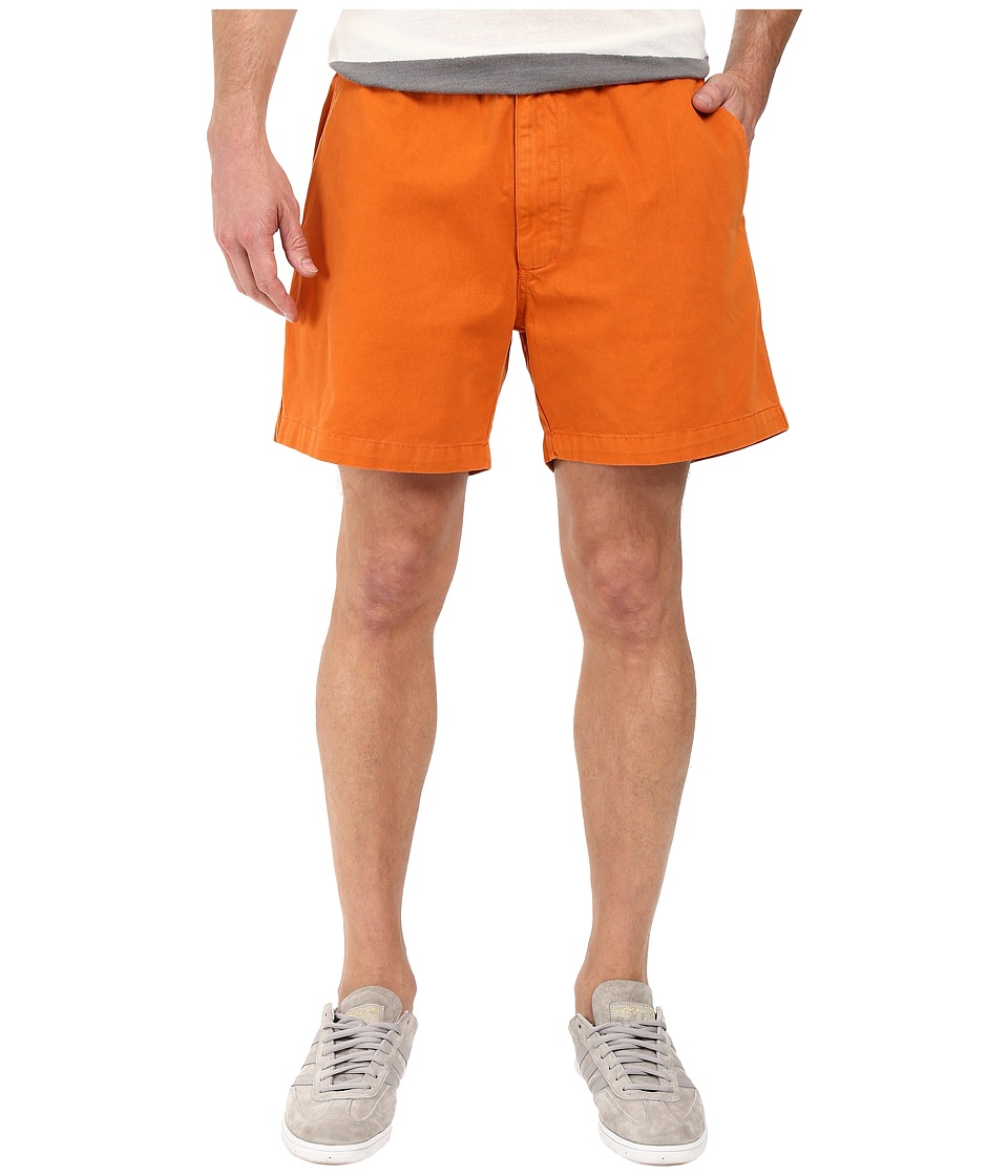 Vintage 1946 - Garment Dyed Pull-On Snapper Shorts (Texas Orange) Men's Shorts